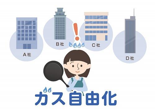 都市ガスの契約先の見直し