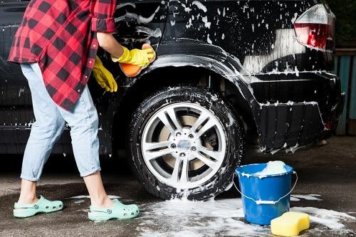 バケツを使った洗車