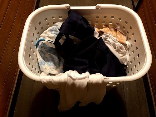 まとめられた洗濯物