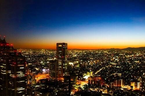 展望台から見渡す夜景