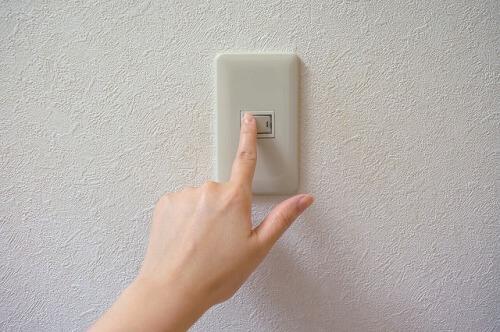 電気を消すスイッチ