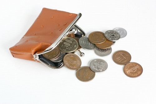 最低限のお金が入った財布